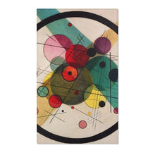 Load image into Gallery viewer, Area Rugs - Circles in a Circle, Wassily Kandinsky - Art an a T