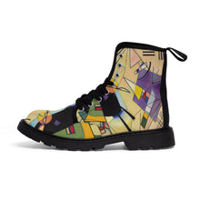 Load image into Gallery viewer, Men's Canvas Boots - Black and Violet, Wassily Kandinsky - Art an a T