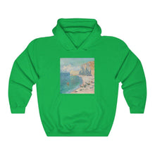 Load image into Gallery viewer, Hooded Sweatshirt - The Beach and the Falaise d'Amont, Claude Monet - Art an a T