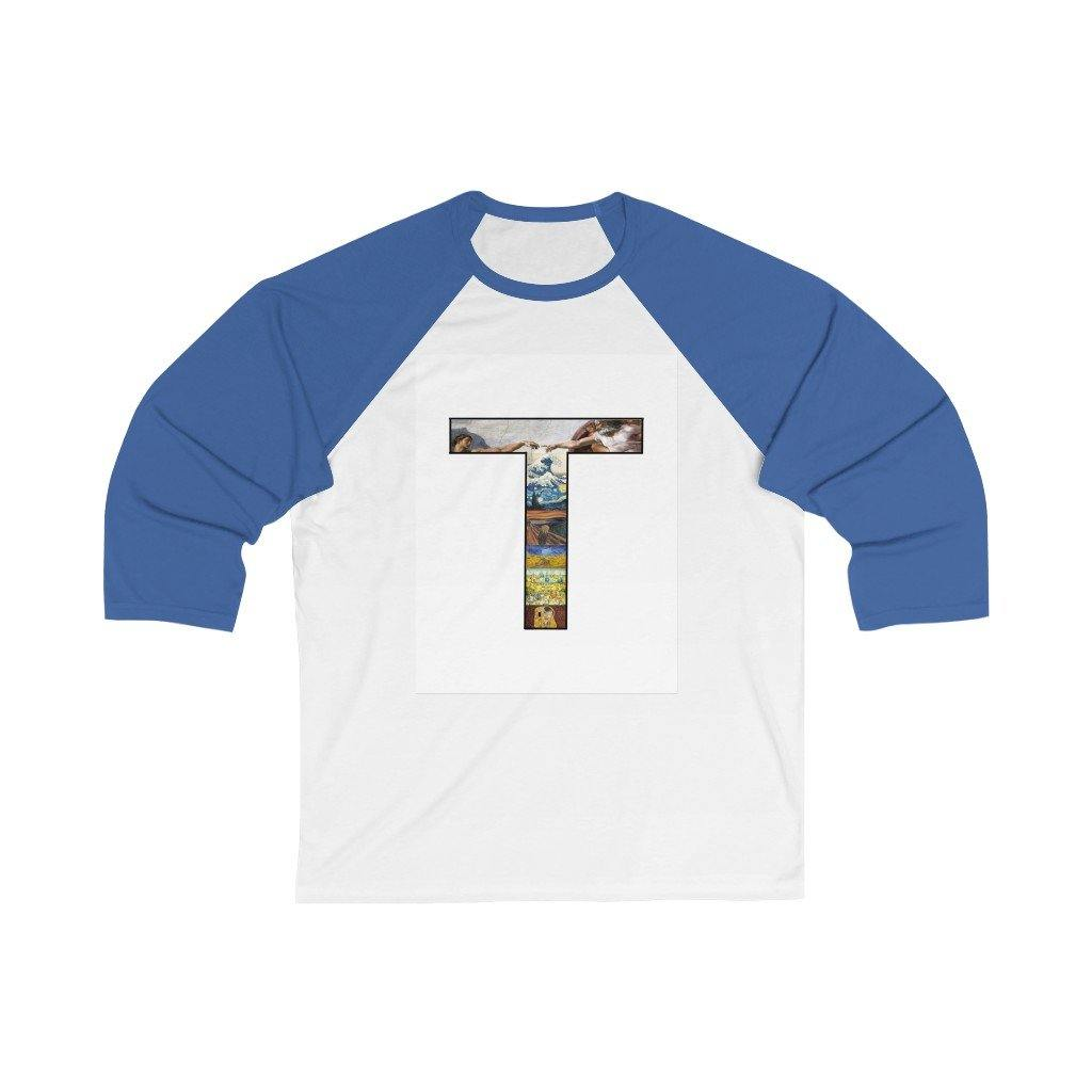 Unisex 3/4 Sleeve Baseball Tee - Art on a T Long-sleeve 25.64 Art an a T