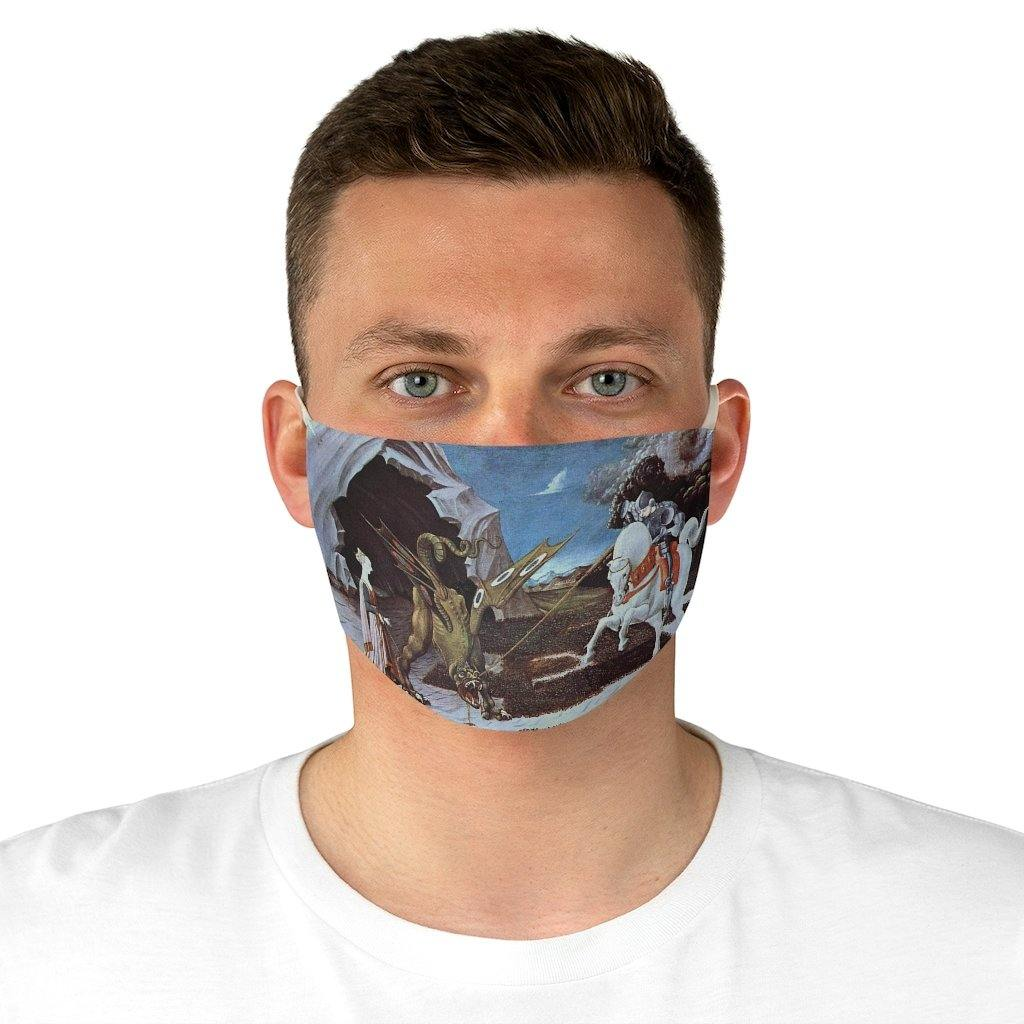 Adjustable Face Mask - St. George And The Dragon, Paolo Uccello - Art an a T