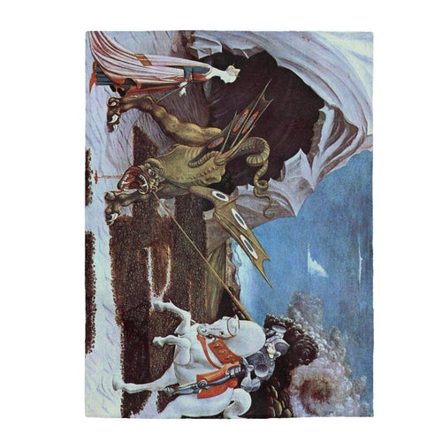 Plush Blanket - St. George And The Dragon, Paolo Uccello All Over Prints 59.95 Art an a T