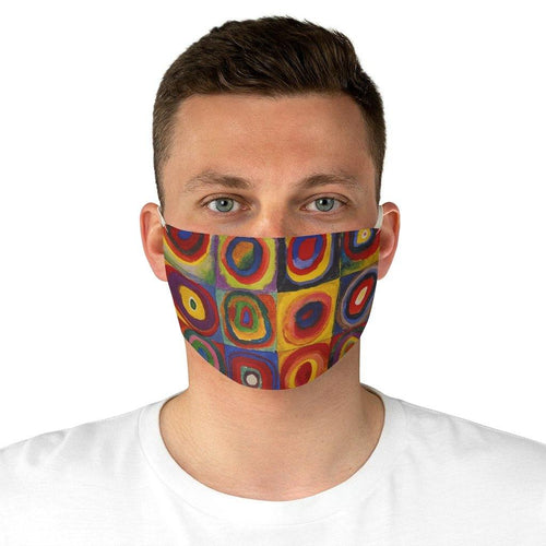 Adjustable Face Mask - Squares with Concentric Circles, Wassily Kandinsky - Art an a T