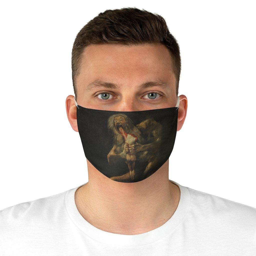 Adjustable Face Mask - Saturn Devouring His Son, Francisco Goya - Art an a T