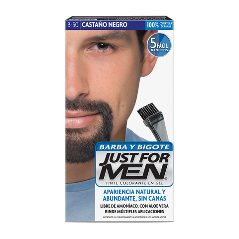 Tinte en Gel Barba y Bigote Castaño Negro Just For Men 28.4 g