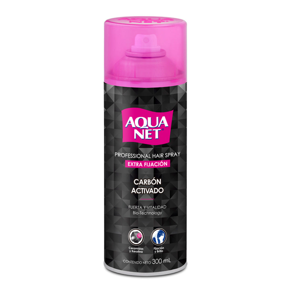 Hair Carbon Activado, Aqua Net 300 ml