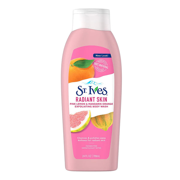 Radiant Skin Pink Lemon and Mandarin Orange Body Wash, St. Ives 24 oz
