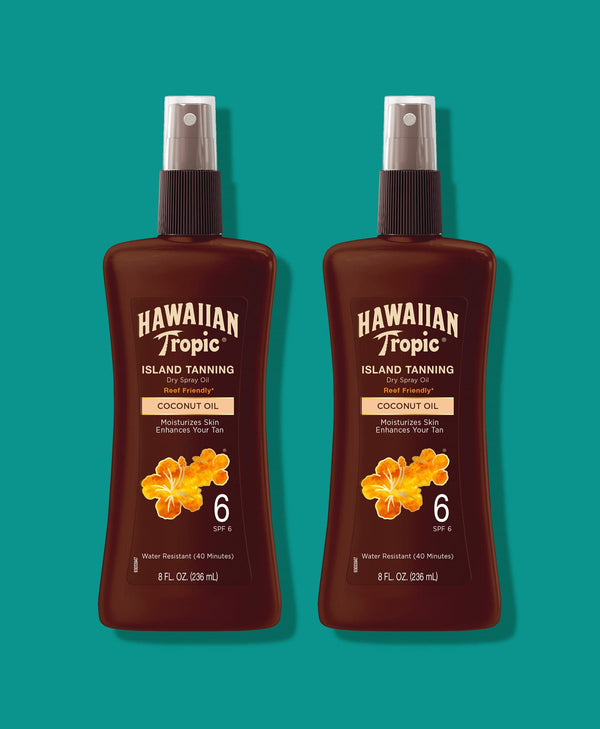 Hawaiian Tropic® Tanning Oil Pump Spray SPF 6 - 2 Pack