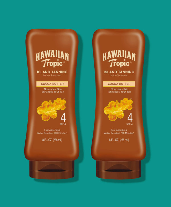 Hawaiian Tropic® Dark Tanning Lotion SPF 4 - 2 Pack
