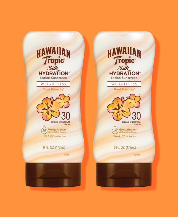 Hawaiian Tropic® Silk Hydration® Weightless Lotion SPF 30 - 2 Pack
