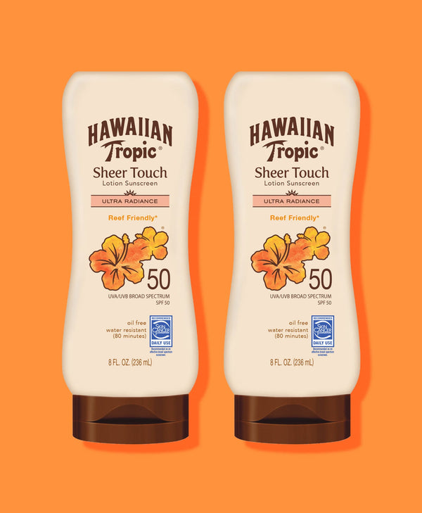 Hawaiian Tropic® Sheer Touch Ultra Radiance Lotion SPF 50 - 2 Pack