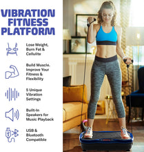 Load image into Gallery viewer, Vibration Plate Fitness Platform with Resistance Bands