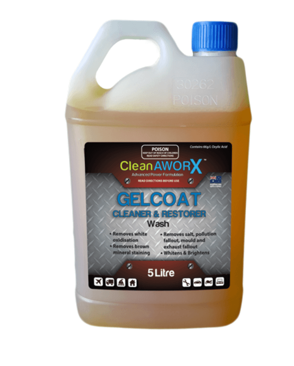 CleanAWORX Gelcoat Cleaner Restorer & Wash 5 Litre