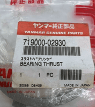 Load image into Gallery viewer, Yanmar Genuine Trust Bearing 719000-02930