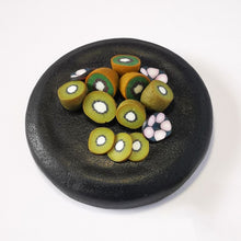 Load image into Gallery viewer, Upcycle your jar with an air-tight lid, hand-decorated in New Zealand. Decorated with miniture polymer clay Kiwifruit. Standard fitting  (58mm) so it fits jars you have at home. Gift boxed in an attractive matchbox.