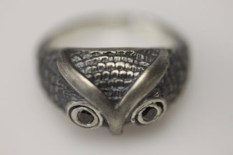Owl Ring Sterling