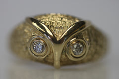 Owl Ring Gold