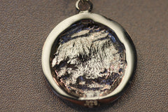 Man in the Moon Pendant, Silver