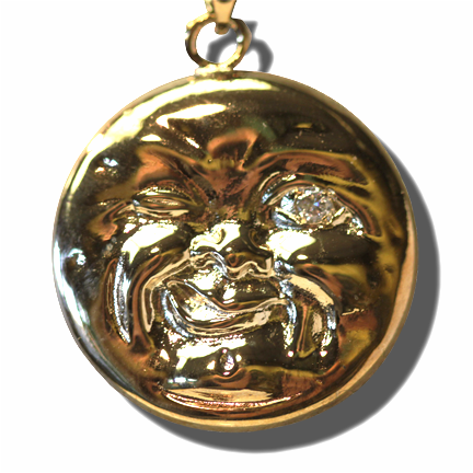 Man in the Moon Pendant, Gold