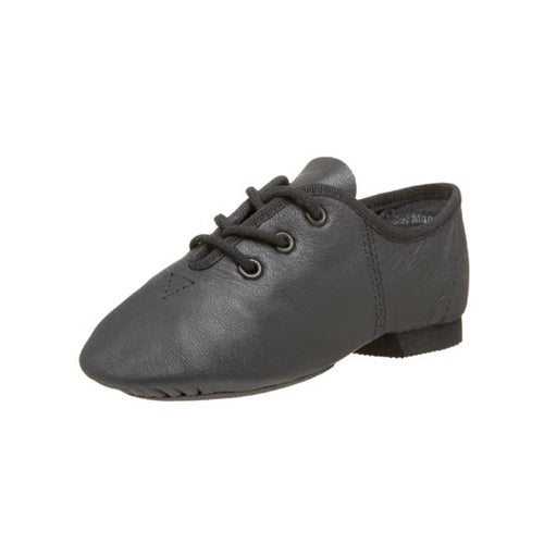 Leo's Black Lace Up Split Sole Jazz Shoe - Girls