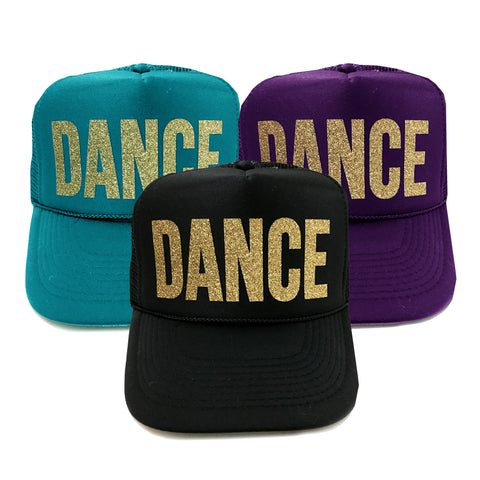 DANCE Glitter Trucker Hat