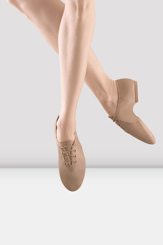 Bloch Jazzsoft Leather Jazz Shoes - Girls TAN LEATHER
