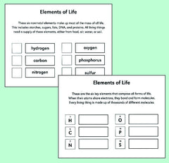 Element Knowledge cards