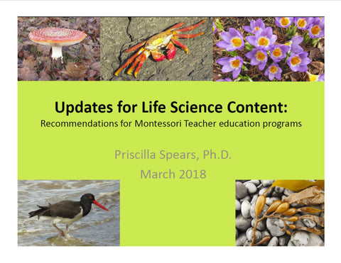 Biology Content Updates 2018 - PowerPoint slides