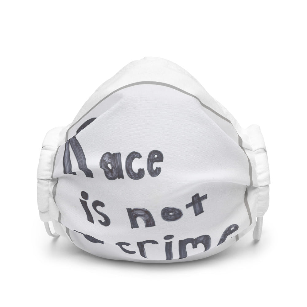 Race is not a crime Premium face mask