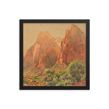 Load image into Gallery viewer, Zion National Park, The Patriarchs Framed poster