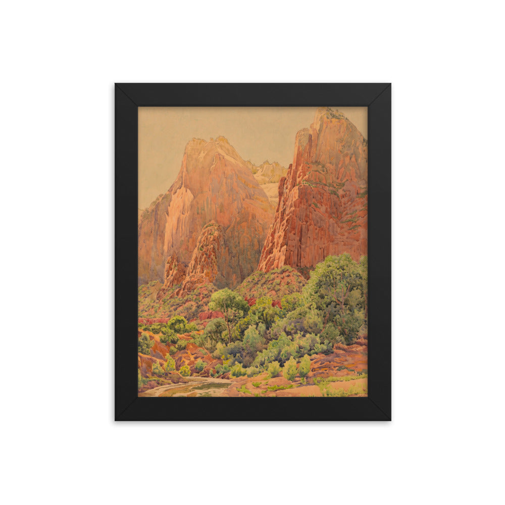 Zion National Park, The Patriarchs Framed poster