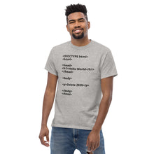 Load image into Gallery viewer, Hello World Delete 2020 Men's heavyweight tee