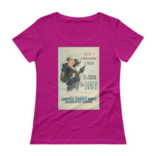 Load image into Gallery viewer, Vintage Navy Ladies' Scoopneck T-Shirt