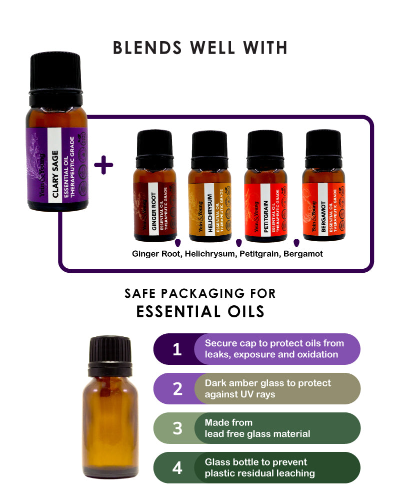 Yein&Young Clary Sage Essential Oil - 10ml