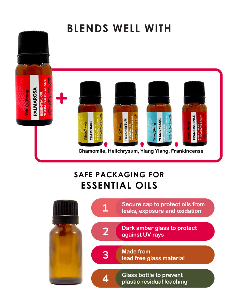 Yein&Young Palma Rosa Essential Oil - 10ml