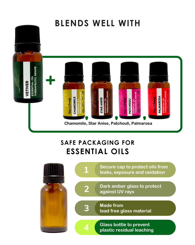 Yein&Young Vetiver Essential Oil - 10ml