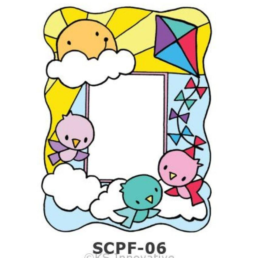 Sun Catcher Photo Frame Painting Kit Morning Birds Kits - Craftiviti