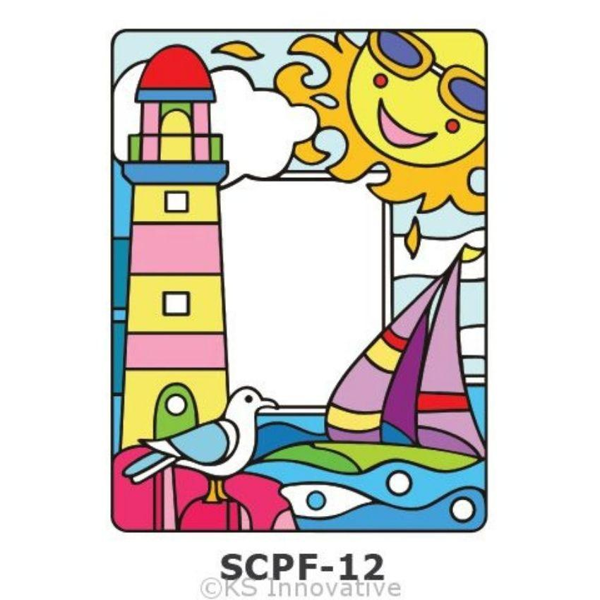 Sun Catcher Photo Frame Painting Kit Pier Boat Kits - Craftiviti