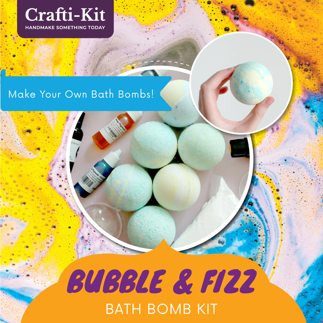 Crafti-Kit – Bubble & Fizz Bath Bomb Kit - Craftiviti