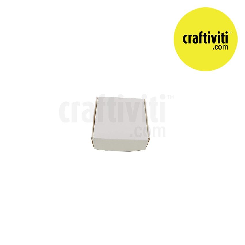 Blank Square Soap Box - White - 75 x 75 x 30mm Packaging - Craftiviti