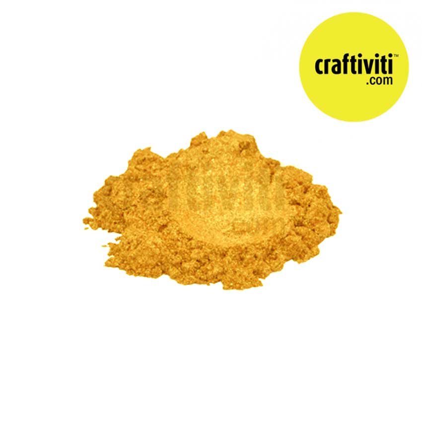 Mica Cosmetic Grade - Aztec Gold - 10g Ingredients - Craftiviti