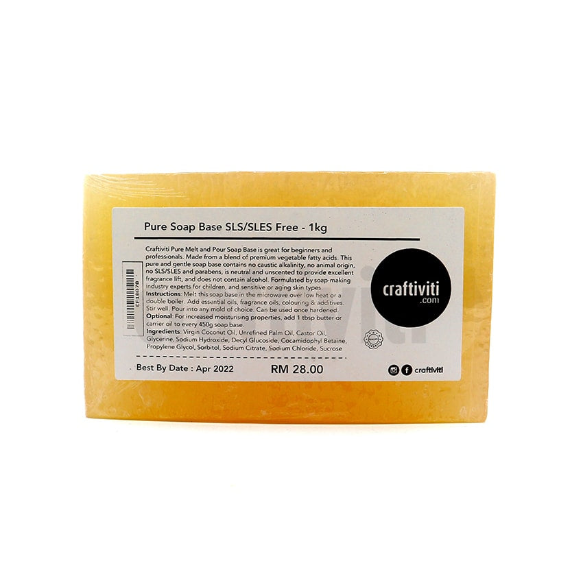Pure Soap Base - SLS/SLES Free - Solid Bar Ingredients - Craftiviti