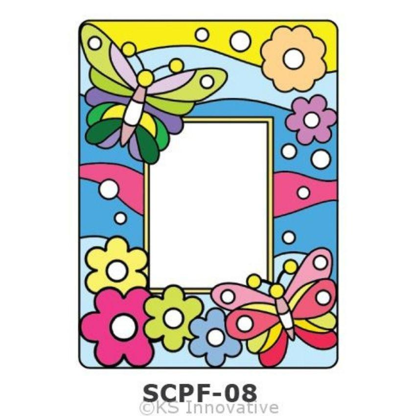 Sun Catcher Photo Frame Painting Kit Butterflies Kits - Craftiviti