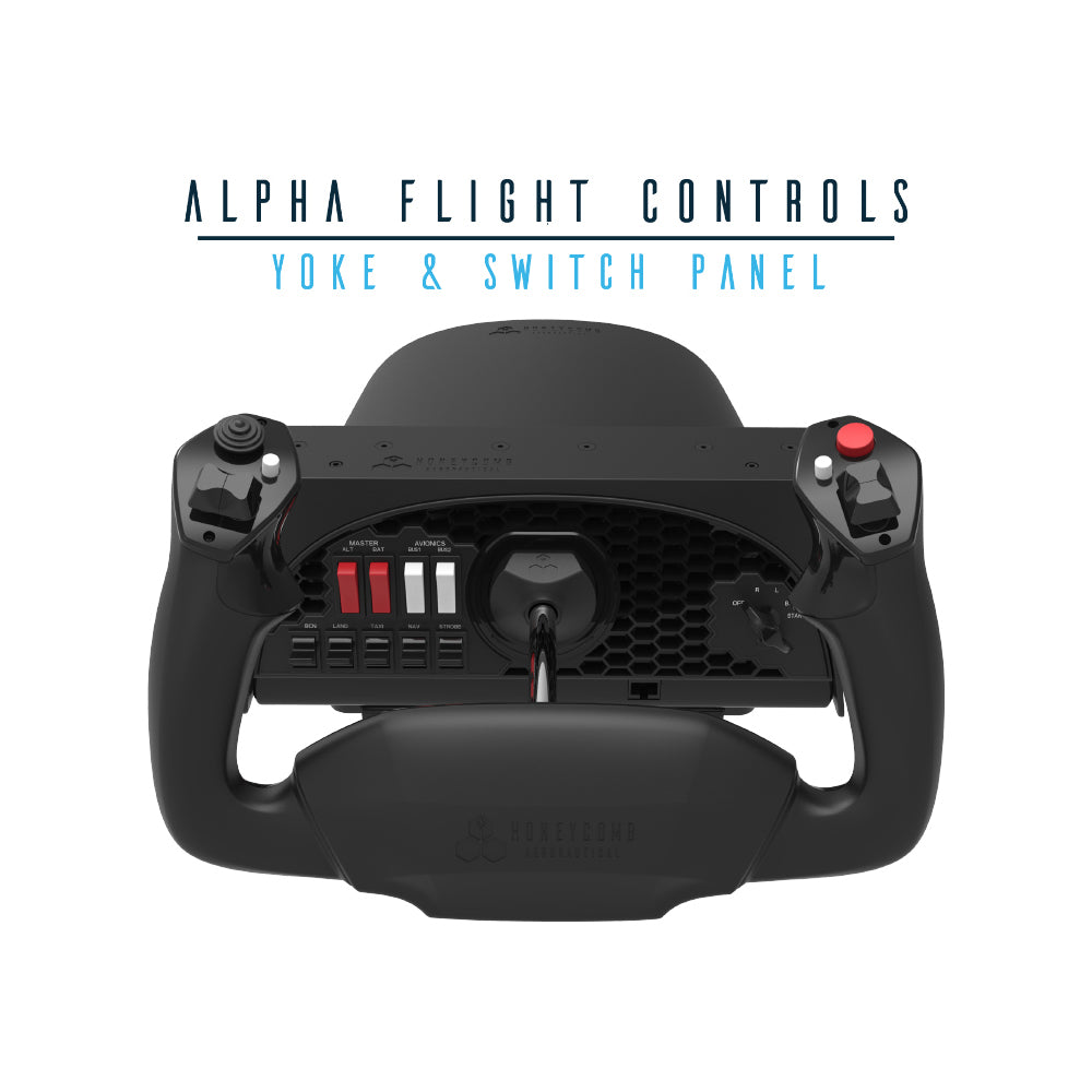 Alpha Flight Controls Yoke & Switch Panel