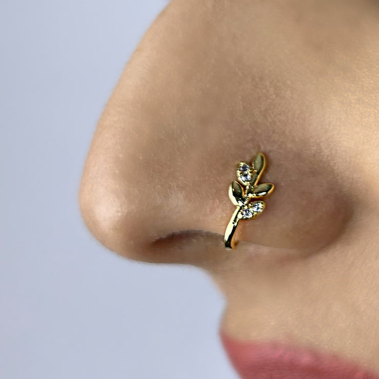 Fake Nosering Nature Gold