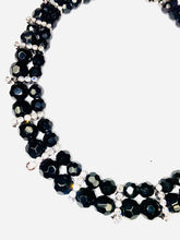 Load image into Gallery viewer, Black and Silver beaded necklace- Simple Necklace- Gift for her