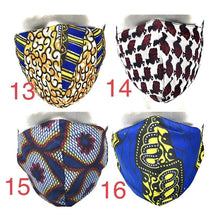 Load image into Gallery viewer, African Print Face Mask UK with Filter Pocket, Ankara Face masks with Pocket, Accessories -  Washable & Reusable| UK SELLER
