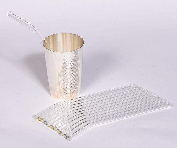 Set of Glass Drinking Straws