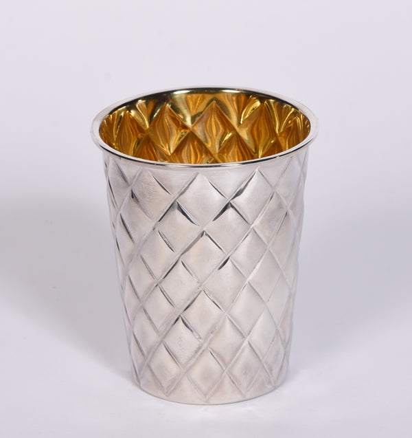 Silver Quilted Beaker
