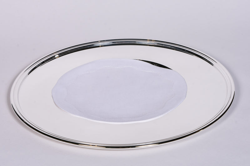 Silver Inglese Charger Plate - Set of 6